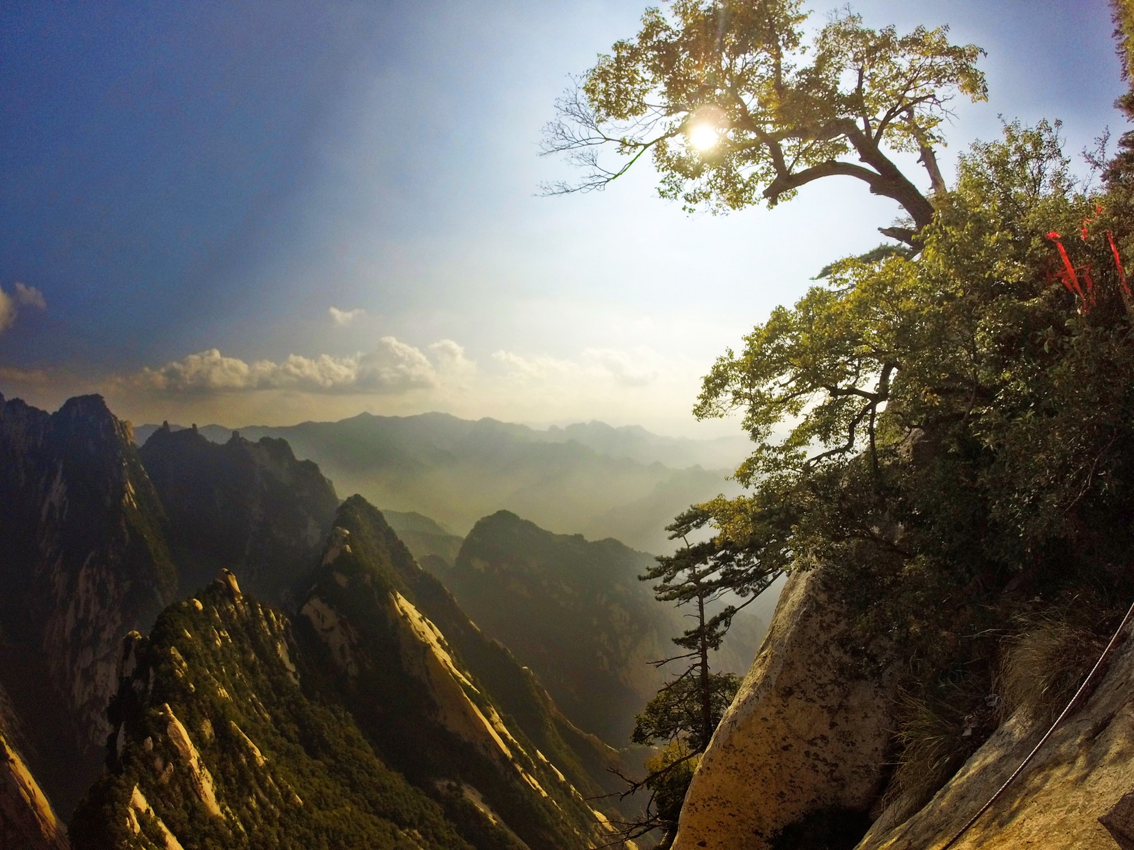 Valley View from Death Planks hike Huashan National Park
