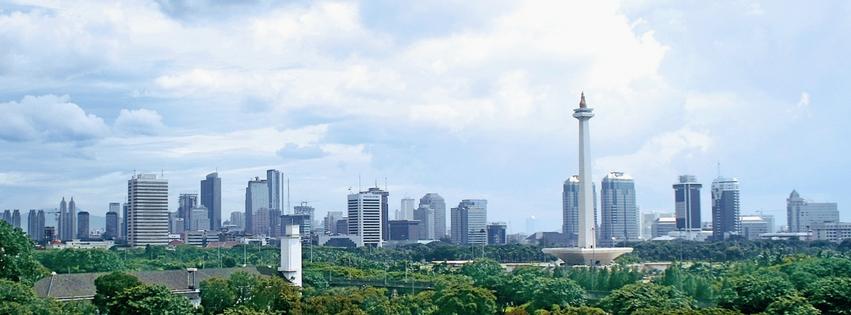 Jakarta Indonesia skyline Panorama