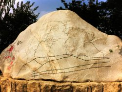 map-carved-into-rock-at-huashan-death-plank-hike-shaanxi-1