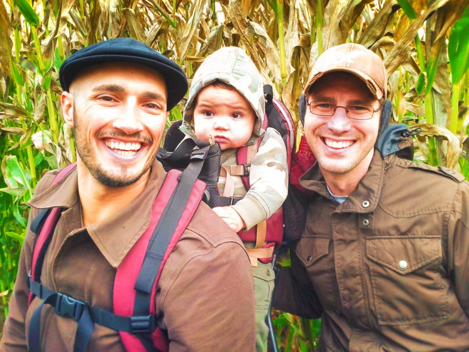 Taylor family in corn maze Fall Traditions