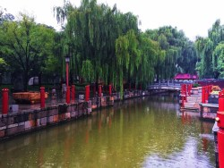 Canal and reflecting pond at Tang Paradise Xian Imperial Garden 2
