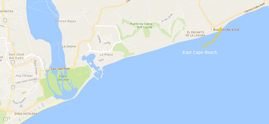 East Cape Beach San Jose del Cabo Map