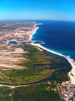 Estuary and East Cape Beach San Jose del Cabo from the air