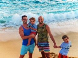 Taylor Family on beach when using a timeshare at Playa Grande Cabo San Lucas