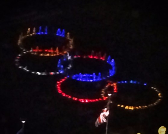 Atlanta Olympic Ring fountains Centennial Park 1