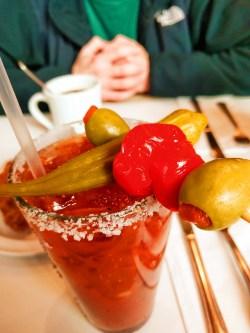Bloody Mary at Cheryls Portland restaurant 1