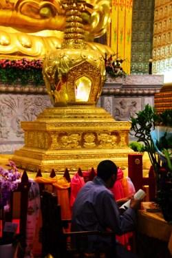 Buddhist monk doing prayer scrolls in Famen Temple Baoji 1