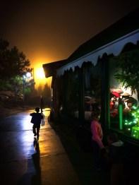 Christmas Cabin displays at Lights of Life Marietta Georgia 2