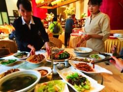 Dining at Buddhist restaurant at Famen Temple 2