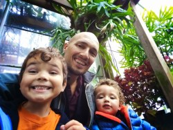 Rob Taylor and Kid in Volunteer Park Conservatory Capitol Hill Seattle 1