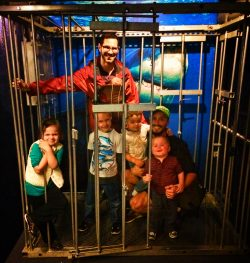 Taylor Family in Shark Cage at Tennessee Aquarium 2