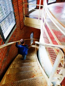 Taylor Kids climbing Volunteer Park Water Tower Capitol Hill Seattle 1