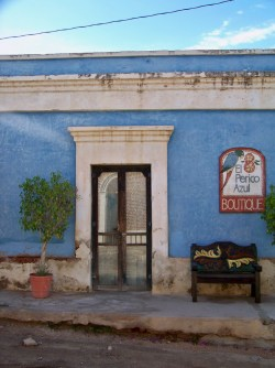 Blue Doorway in Old Town Todos Santos Baja California Sur 1