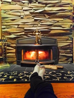 Floor to Ceiling hearth at Domaine Madeleine Port Angeles 1