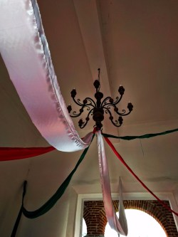Mexican streamers in Historical building in La Paz BCS Mexico 2