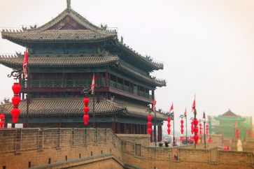 Ramparts and Towers at Xian City Wall 1