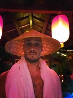 Rob Taylor Red Chinese Lanterns at Taibai Mountain Hot Springs Resort 1