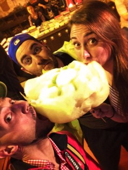 Rob Taylor and Friends eating Cotton Candy in Xian Muslim Quarter 1
