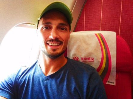 Rob Taylor on Hainan flight at Xian City Airport 1
