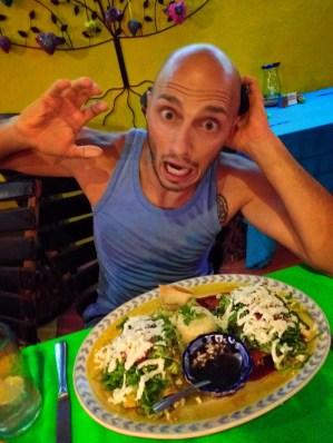 Rob Taylor with Enchiladas at Maria Jimenez Cabo San Lucas 1