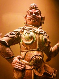 Buddhist warrior statue in Xian Cultural History Museum