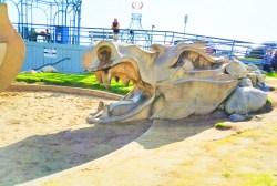 Concrete dragon at Santa Monica Beach 1