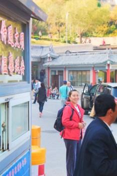 Elsie Tour Guide at Baota Pagoda Yanan Shaanxi 1
