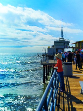 Fishing off the end of Santa Monica Pier 1