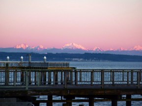 Glacier Peak from Port Townsend sunset 1