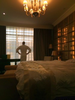 Rob Taylor in Dynasty Hotel Room Yanan morning sun 1
