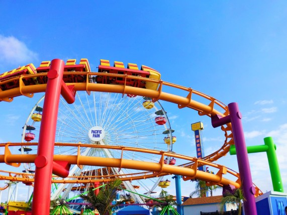 Rollercoaster at Pacific Park Santa Monica Pier 1