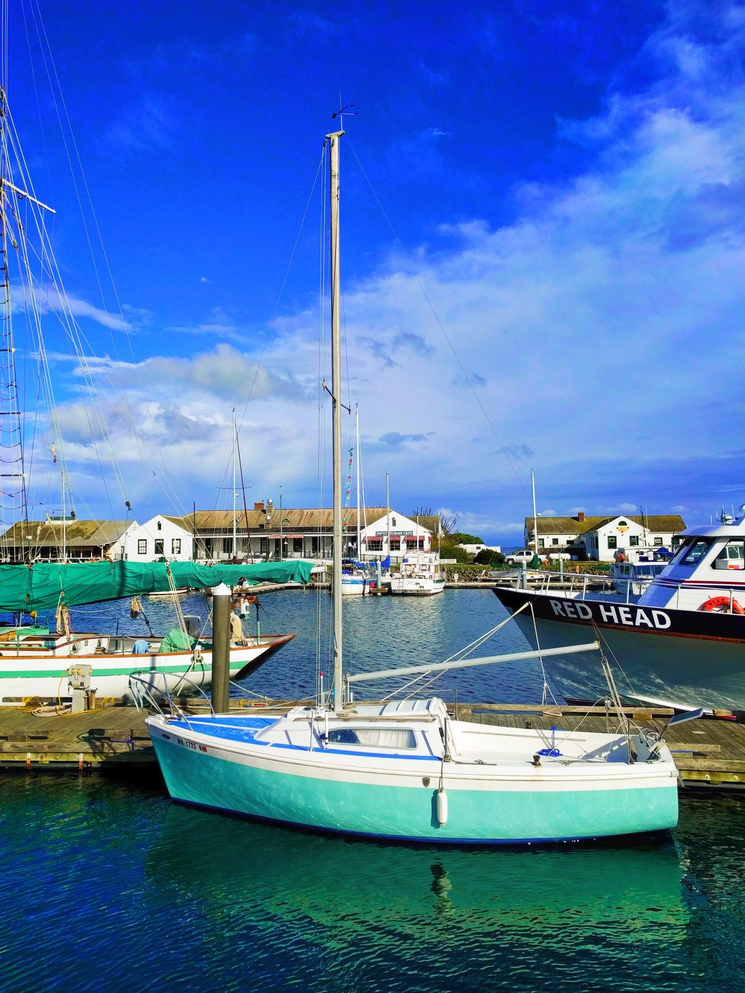 Sailboats in Hudson Point Marina Port Townsend 2