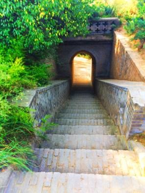Staircase at Watchtower Drumtower at Baota Pagoda Yanan Shaanxi 2