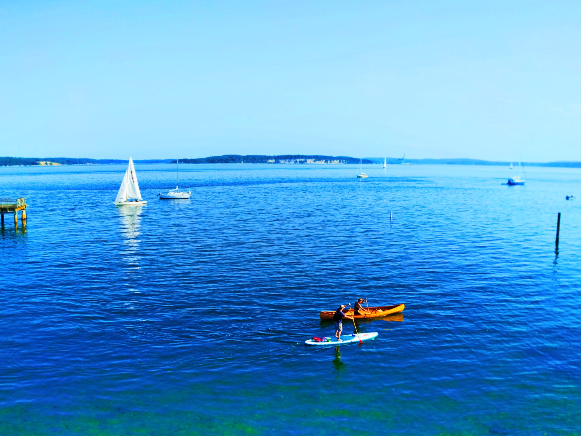 Summertime Water sports in Port Townsend Olympic Peninsula 1