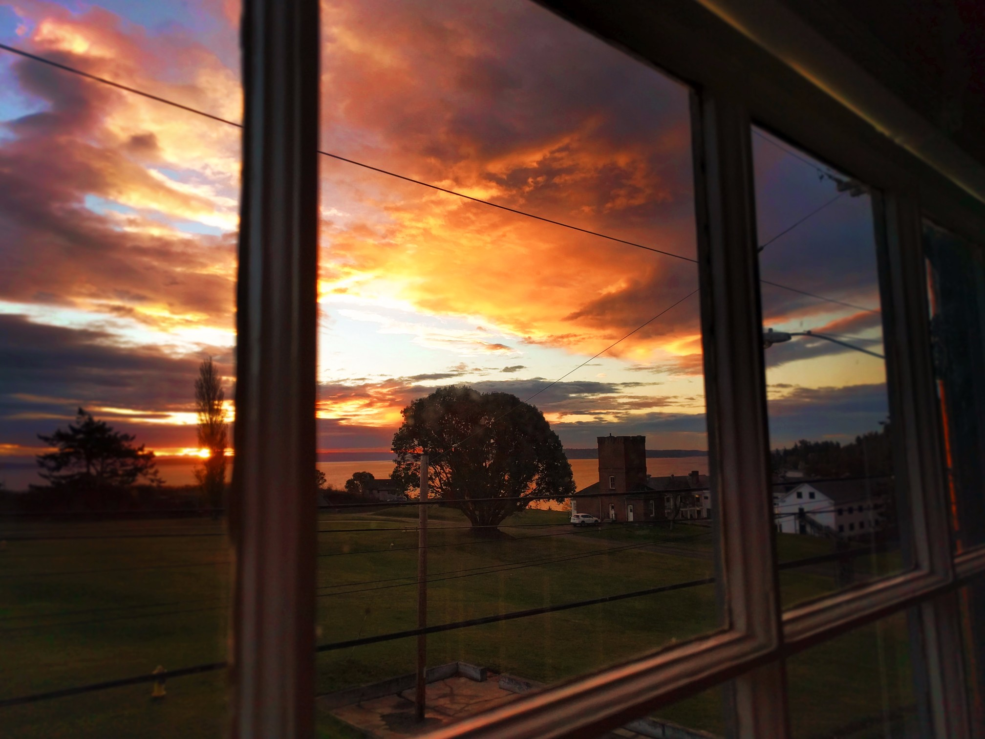 Sunrise View from Fort Worden Barracks suite Port Townsend 2
