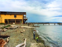Taylor Family on beach at Port Townsend Waterfron Northwest Maritime Center 1