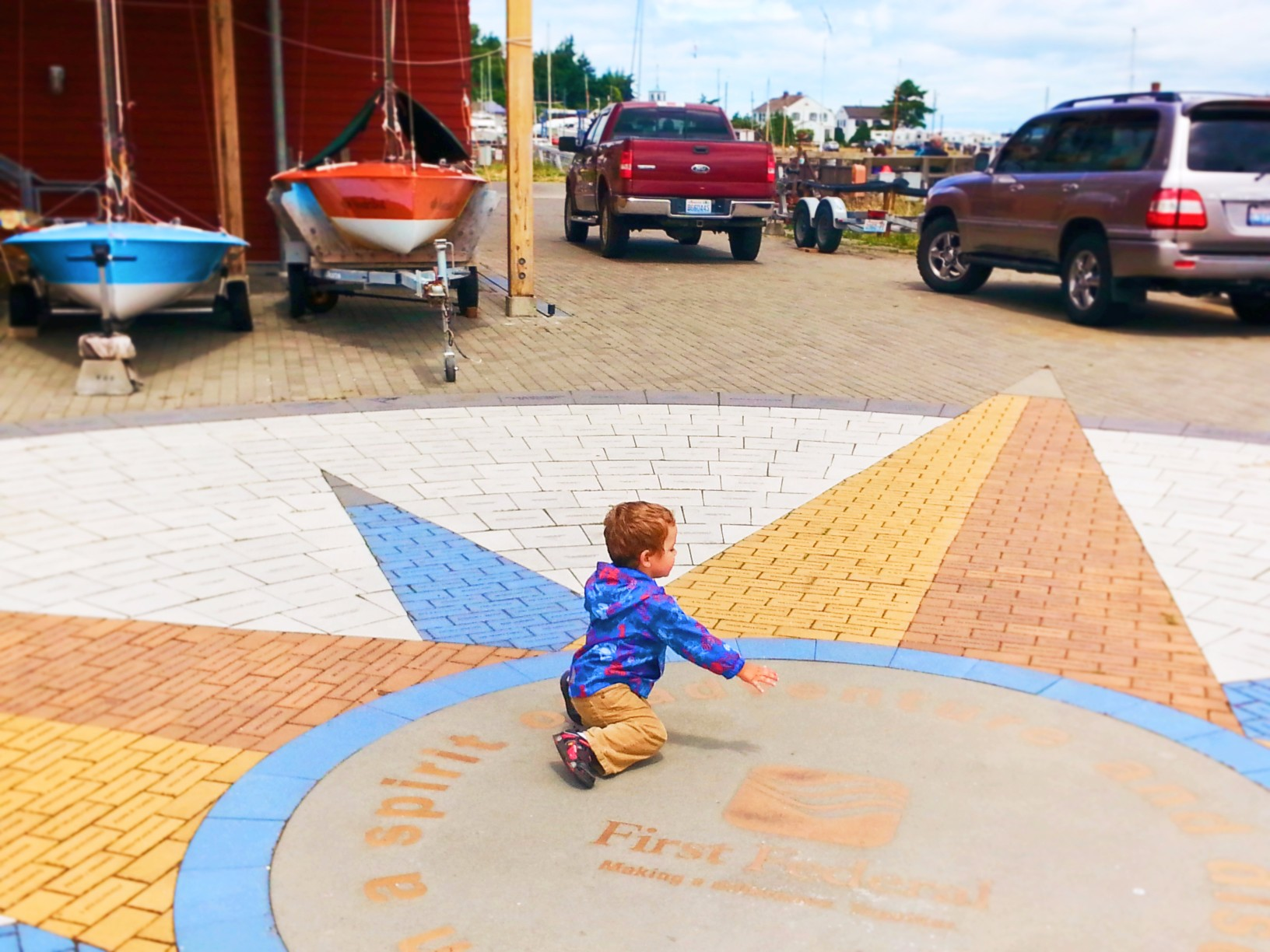 Taylor family at Northwest Center for Wooden Boats Port Townsend 1