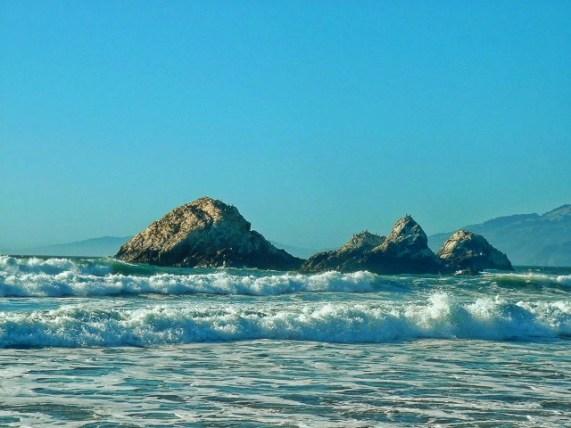 Carmel Coastline crashing waves 1