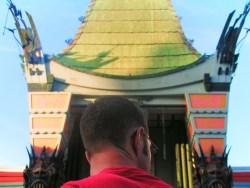 Chris Taylor at the Chinese Theater Hollywood Los Angeles 1