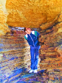 Chris Taylor in Sandstone hole Tidepools Cabrillo National Monument San Diego 1