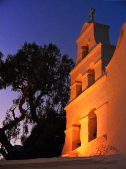 Mission San Diego at night 1