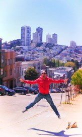 Rob Taylor jumping on Telegraph Hill San Francisco 1