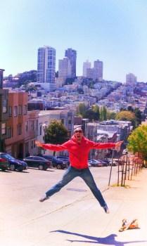 Rob Taylor jumping on Telegraph Hill San Francisco 1