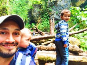Taylor Family in Oneonta Gorge Columbia River Gorge 1