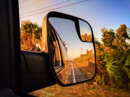 Escape Campervan driving through Big Cypress National Preserve 1