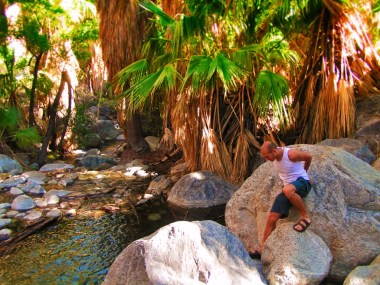 Rob Taylor hiking at Indian Canyons at Agua Caliente Palm Springs 4
