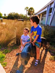 Taylor Family and Florida Panther statue at Big Cypress National Preserve 1