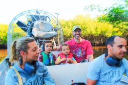 Taylor Family at Airboat Ride Everglades City Florida 5