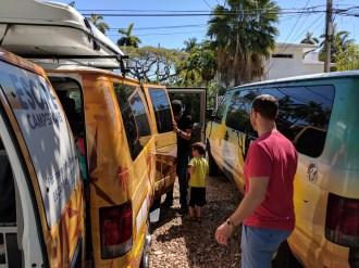 Taylor Family in Escape Campervan Miami Beach 3