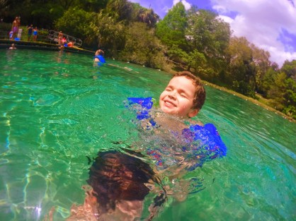 Taylor Family in Rainbow River at Rainbow Springs State Park 4